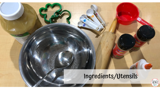 ingredients utensils