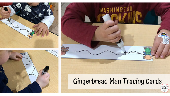 Gingerbread Man Tracing Cards