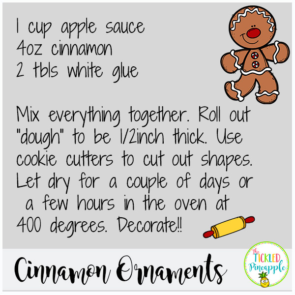 Cinnamon Ornaments Recipe