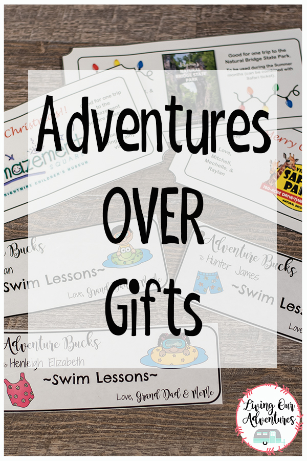 Give and Adventure OVER a Gift.  The memories will last longer and you are sure to have a good time.