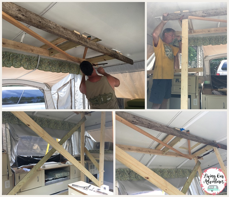 Coleman Pop Up Camper roof support install