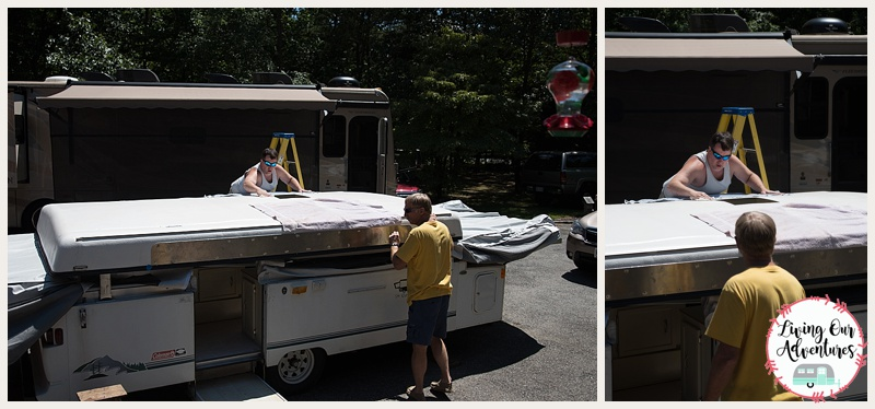 Pop Up Camper AC Unit Install