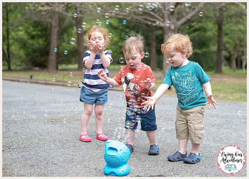 BUBBLES!!! hours of fun.