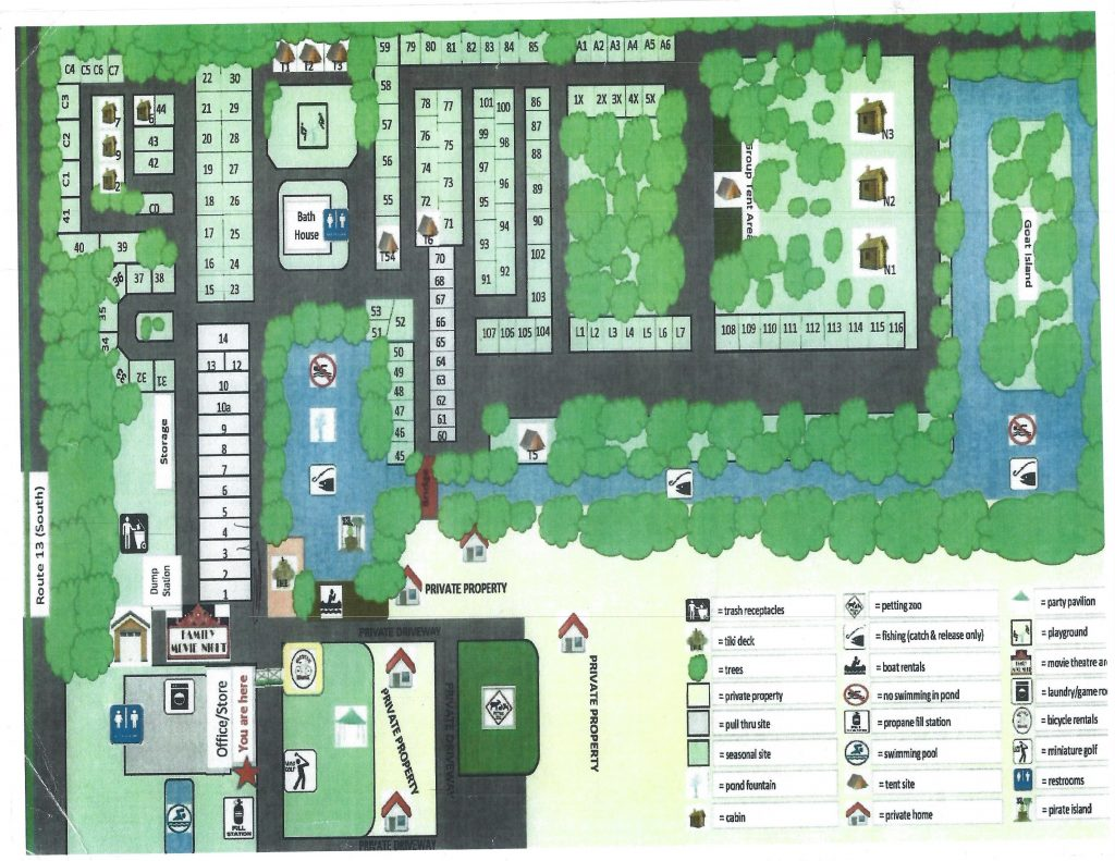 Lake Somerset Campground Map