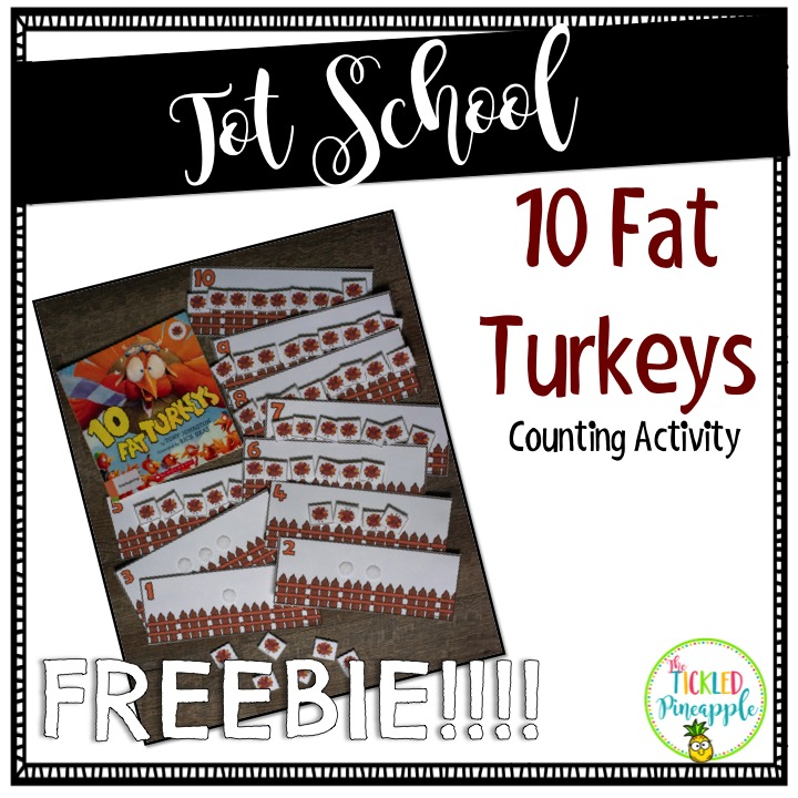 10 Fat Turkey's - Math Freebie
