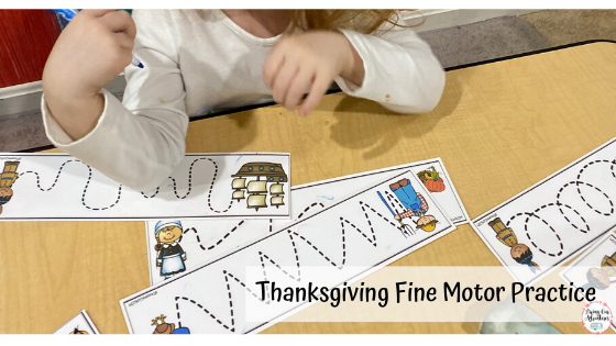 Thanksgiving Fine Motor Practice